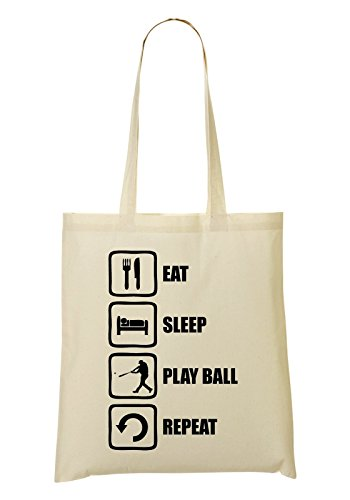 Fourre tout Sleep Play à Repeat Baseball provisions Graphic Sac Sac Eat Ball 08wTZZq