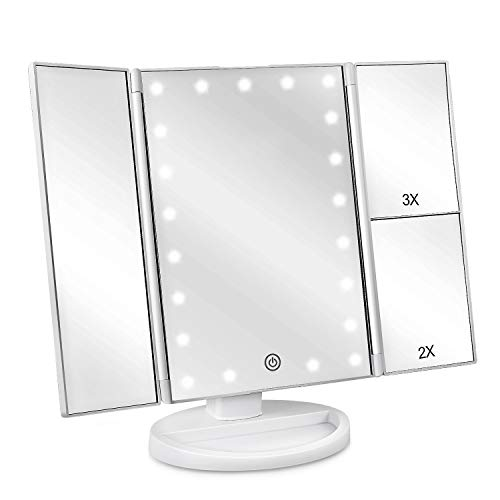Deweisn TriFold Lighted Vanity