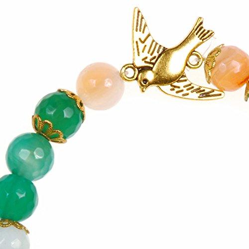 a0b4e7332325 Peach Blossom Agate Dove Bracelet  Amazon.co.uk  Jewellery