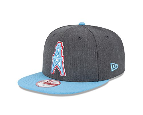 NFL Houston Oilers New Era Historic Heather Graphite 9FIFTY Original Fit Cap, Graphite, One Size
