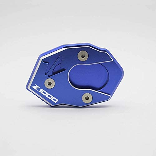 RONGLINGXING Powersports Teile For Kawasaki Z1000 Zubehör Seitenständer Seitenständer Platte Pad Vergrößern Verlängerung Stoß-Standplatz Z1000 (Color : Blue)
