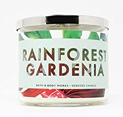 Bath & Body Works Candle 3 Wick 14.5 Ounce Rainforest Gardenia