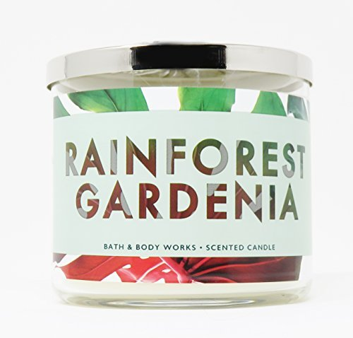 - Bath & Body Works Candle 3 Wick 14.5 Ounce Rainforest Gardenia