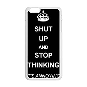 Shut up and stop thinking keep calm and pin Phone Case for Iphone 6 Plus