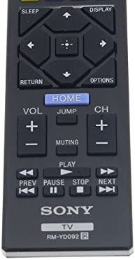 Sony RM-YD092 Factory Original Replacement Smart TV Remote Control for All LCD LED and Bravia TV's - New 2017 Model (1-492-065-11)