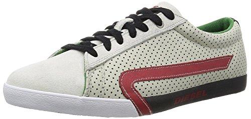 - iesel Men's Casual Shoes Bikkren Lace up Sport Leather Fashion Sneakers (12 US / 45 EUR / 29 cm, Silver/Brich)