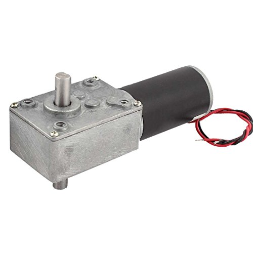GW31ZY DC 12V 35RPM 1:218 Reduction Ratio 15KG.CM Double Shaft Worm Geared Motor