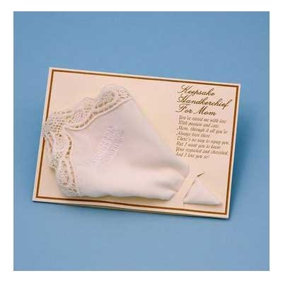 - Mother of the Bride Handkerchief - WHITE