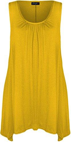 21FASHION - Camiseta sin mangas - para mujer amarillo