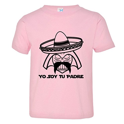 Price comparison product image PleaseMeTees Toddler Soy Tu Padre Father Mexican Sombrero Mustache Tee Pink-4
