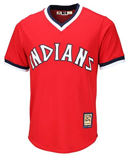 Baseball Display Cleveland Indians (Cleveland Indians MLB Men's Big and Tall Cooperstown Team Pullover Jersey Red (2XT))