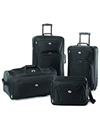 Luggage Fieldbrook II 4 Piece Set, Black, One Size