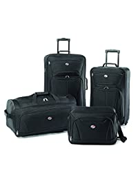 American Tourister Fieldbrook II 4 Piece Set, Black