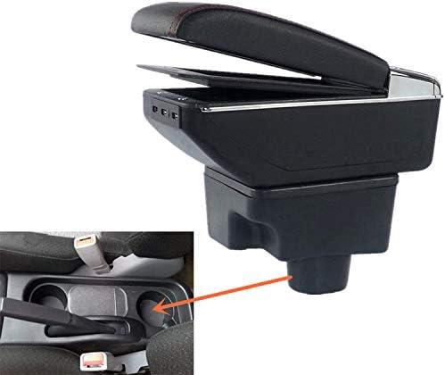 Szss Car Leder Autoteile Mittelkonsole Armlehne Box Auto Armlehnen Aufbewahrung Grau Auto