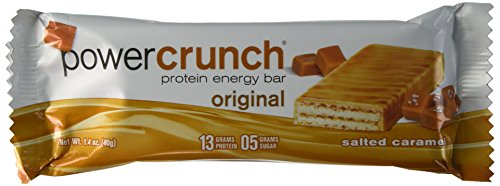 Bionutritional Research Group - Power Crunch Protein Energy Bar Salted Caramel - 1.4 oz - 5 ct [Pack of ()