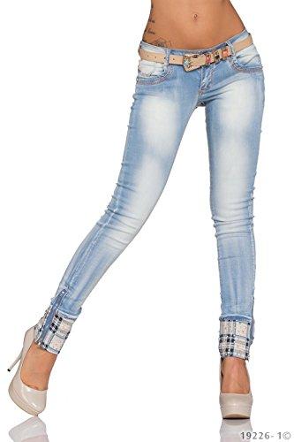 Mozzaar bleu bleu Skinny Femme clair Jeans Uq1qWvF8SB