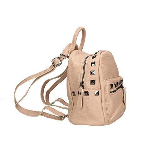 véritable Sac 17x20x11 Italy Rose in à femme dos en Aren Cm Made cuir YOFHqFx