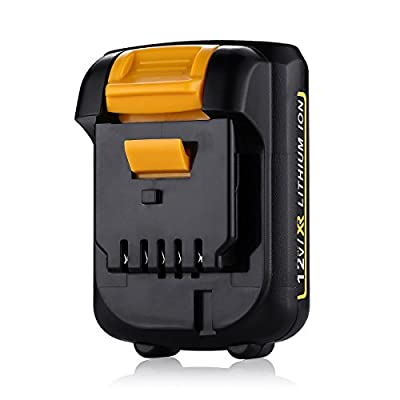 Powerextra UpgradedCapacity 4.0Ah 12V Replacement Battery for Dewalt Lithium-Ion Battery Pack Dewalt DCB120 Dewalt DCB127 Dewalt 12 Volt Lithium ion Battery