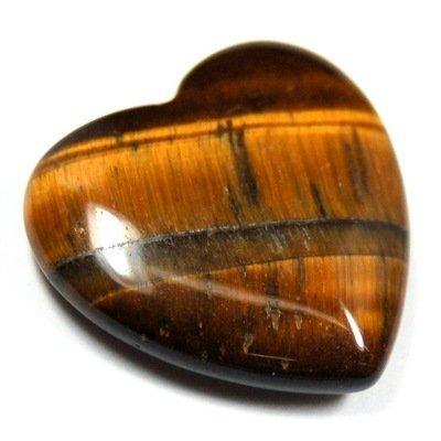(Golden Tiger Eye Heart (3/4
