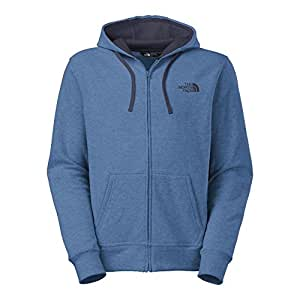 The North Face Emb Logo Full Zip Hoodie Mens Dish Blue Heather/Cosmic Blue 3XL