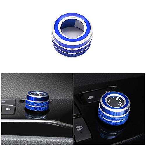 Thor-Ind 5PCS Center Console Knobs AC Air Conditioning Button+Audio+Function+Rear Mirror Knob Switch Cover Trim for Toyota Camry 2018 2019