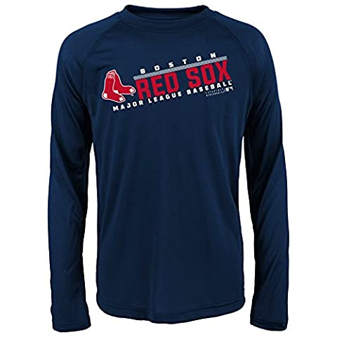 MLB Youth 8-20 Red Sox performance Long sleeve Tee, Xl(18), Athletic Navy - Sox Long Sleeve