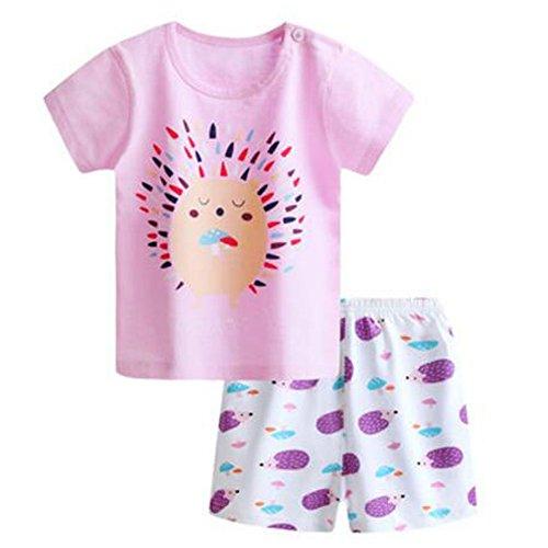 Kid BoysCartoon Printing 2PCS Toddler Kids Baby Girls Outfits T-shirt Tops+Short Pants Clothes - Store Q Website