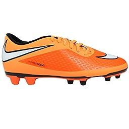 Nike Men\'s Hypervenom Phade FG Soccer Cleats Atomic Orange/White 9.5 D(M) US