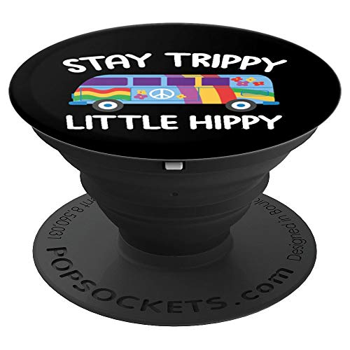 Stay Trippy Hippie Peace Sign Vintage Van - PopSockets Grip and Stand for Phones and Tablets (Hippy Van)