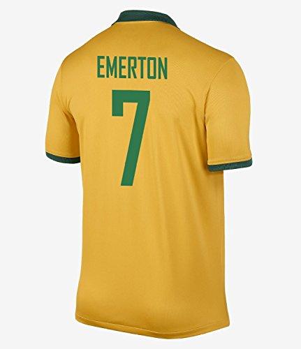 懐バー持続的NIKE EMERTON #7 Australia Home Jersey 2014-15/サッカーユニフォーム オーストラリア ホーム用 背番号7 エマートン