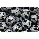 Milk Chocolate Footballs, Black/White, 500g Bag (Pack of 105)
