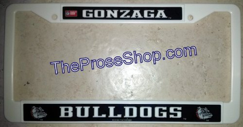 Gonzaga Bulldogs License Plate Tag Frame Cover Basketball University of LBL TB