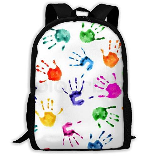 Backpack Hand Prints Art Stylish for Girl