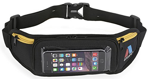Amsana AMSANA trade; Running Belt for iPhone 6 & Android Smartphones + Touchscreen Compatible (Black/yellow) price tips cheap
