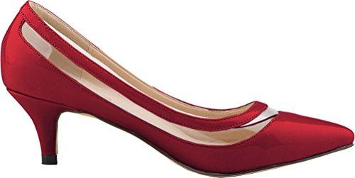 CFP - Sandalias con cuña mujer Vino Rojo
