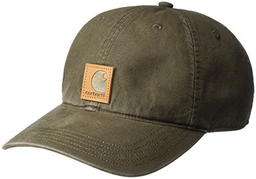 Carhartt Men's Odessa Cotton Sandstone Cap, Dark Coffee, OFA