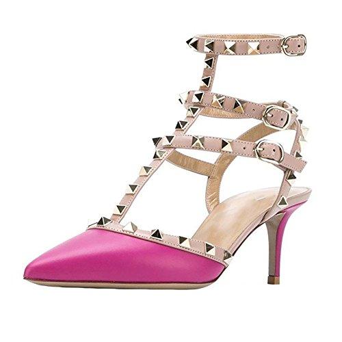 de para Matte mujer MERUMOTE Rose vestir Zapatos Pqv6wwx45