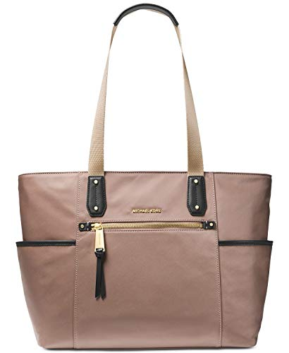 Nylon Bag Tote Tech - MICHAEL Michael Kors Polly Top Zip Nylon Tote (Dune)