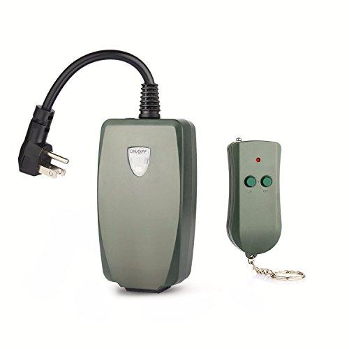 Photocell Remote (Remote Control Outlet, Sokani Weatherproof Outdoor Outlet Photocell Remote Control Converter Kit for String Light in Backyard / Garden)