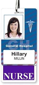 Heavy Duty Hospital ID Card Buddies for Nurses Vertical NURSE Badge Buddy