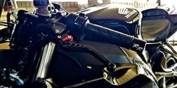 Short Motorcycle Adjustable CNC Brake and Clutch Levers for Honda CBR1000RR 2004-2007,CB1000R 2008-2016-Black