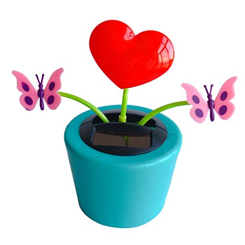 Solar Powered Dancing Flower Swinging - Transser Bee Happy Dancing Bobble Dancer Toy Car Decor (L)]()