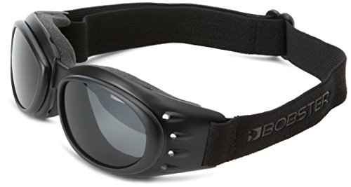 Motorcycle Black Lens - Bobster Cruiser 2 Goggles, Black Frame/3 Lenses (Smoked, Amber and Clear)