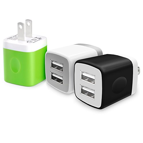 [Universal Certified Dual USB Ports Power Portable Adapter 2.1A / 10W Travel Wall Charger for iPhone 7 6S SE, iPad Air Mini, Samsung Galaxy Note, Tablets and Most USB Device (Random] (Ipod Costume)