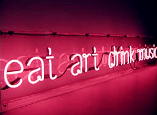 Mirsne Neon Signs Glass Tube Neon Lights 40 By 10 Inch Eat Art