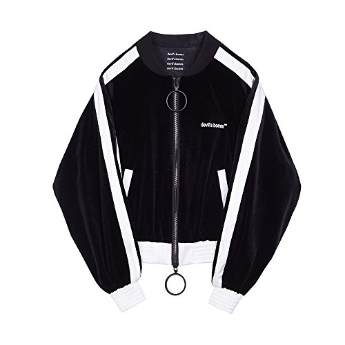 de invierno butt béisbol de Negro freestyle de chaqueta corta lana Vacaciones color 6qa5zWTzg