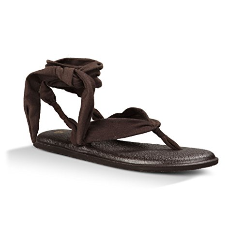 Sanuk Women's Yoga Slinged Up Gladiator Sandal, Black, 8 M US