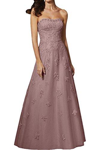 Spitze Traegerlos Festlichkleider Braut Abendkleider Dunkel mia La Rosa Blau Promkleider Brautmutterkleider wITZfxqP