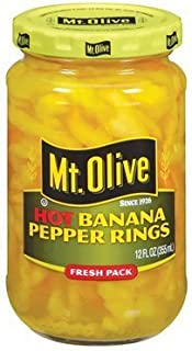 product image for Mt. Olive Hot Banana Pepper Rings 12 Oz (Pack of 3)