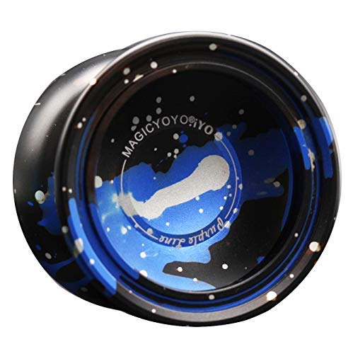 MagicYoYo .iYO Purple Line Aluminum Yo-Yo (Black Blue with Silver Speckle)
